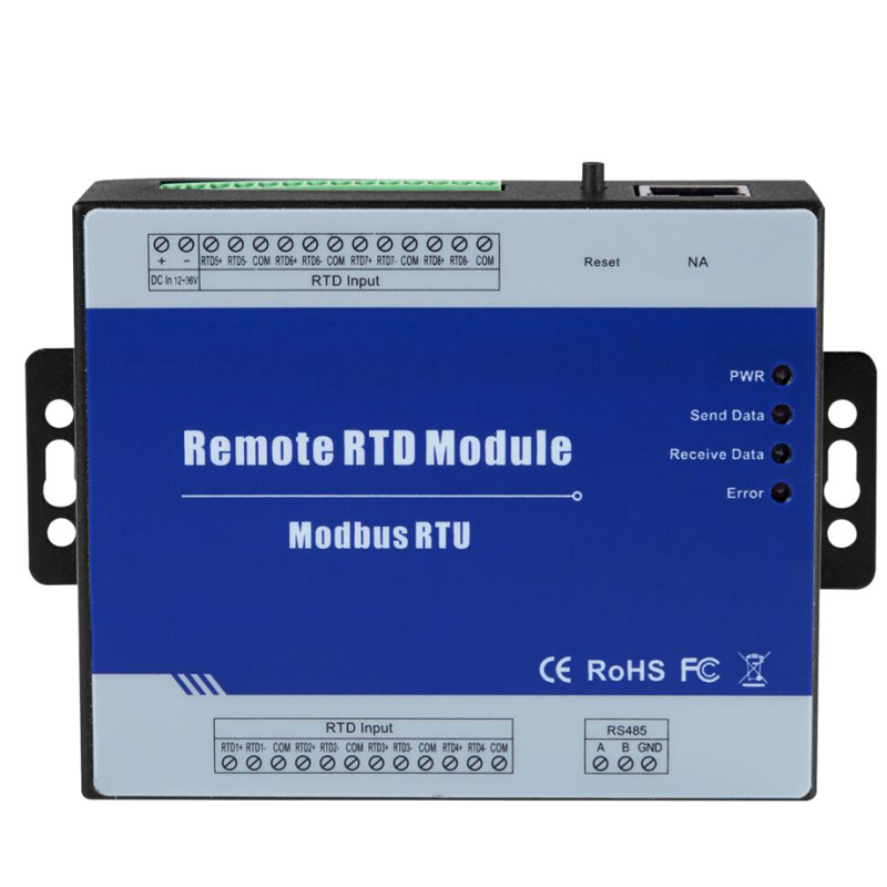 Modbus RTU Remote IO Modul 8 RTD Eingänge Unterstützt Standard Modbus TCP mit RS485 Echtzeit-überwachung IOT Gerät M340