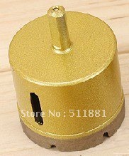 55mm Luxury Diamond Core Drill Bits FREE shipping | 2.2'' marble Ceramic tile concrete wall core bits | Golden color, very nice best promotion 10pcs set diamond holesaw 3 50mm drill bit set tile ceramic porcelain marble glass top quality