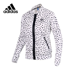 Original New Arrival Official Adidas Women's Jacket Windproof Stand Collar Sportswear