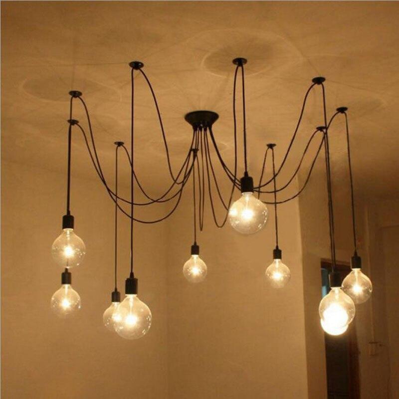 Vintage café magasin de vêtements personnalisé décoratif feux d'artifice ampoule Art araignée lustre led luminaire lampes led pour la maison
