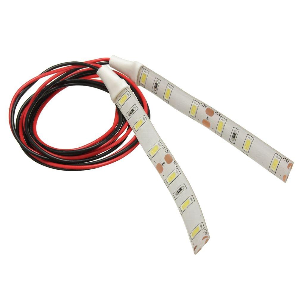 2x 10cm 12V White 6 LED 5630 SMD Strip Lights For Car Boat Motor Van Waterproof