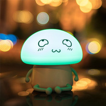 LED Silicone Soft Night Light Cute LED USB Rechargeable Touch Lamp for Dark Baby Sleeping Light