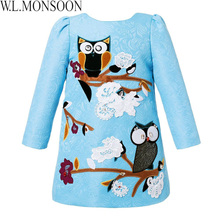 W.L.MONSOON Mother Daughter Dresses Women Clothes 2018 Girls Winter Dress Christmas Animal Applique