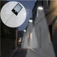 Solar Led Motion Sensor Light Outdoor Waterproof Wall Light 36LED Solar Lamp With High Quality Panel And Aluminum Pole