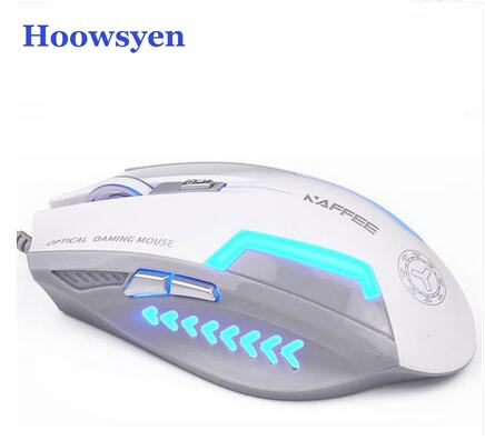 Gaming Mouse Slient Button Computer Gaming 2400DPI mouse for PC Laptop for overwatch LOL CS go