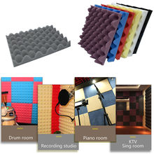 1pcs/set 50x50x3.5cm Soundproof Foam Egg Profile Sound Absorbent Foam Acoustic Panel Noise Absorption File for KTV Audio Room(China)