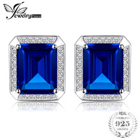 Jewelrypalace Men Luxury 8 6ct Created Blue Sapphires Wedding Cufflinks 925 Sterling Sliver 2016 New Fine