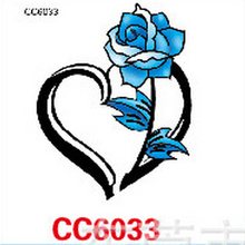 Mini Body Art Waterproof Temporary Tattoos For Women Individuality Flower Design Flash Tattoo Sticker CC6033