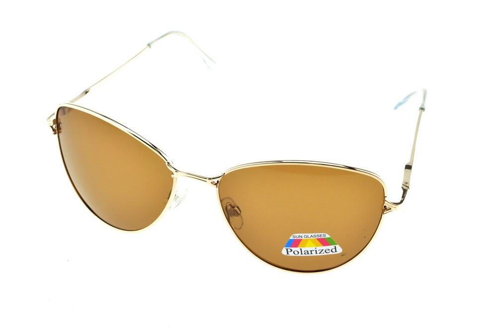 Or de luxe Cat eye femmes Polarisées Lumière BRUN lunettes de soleil UV400  polaroid polarisé sport conduite En Plein Air designer lunettes de soleil 61b2c64650c7
