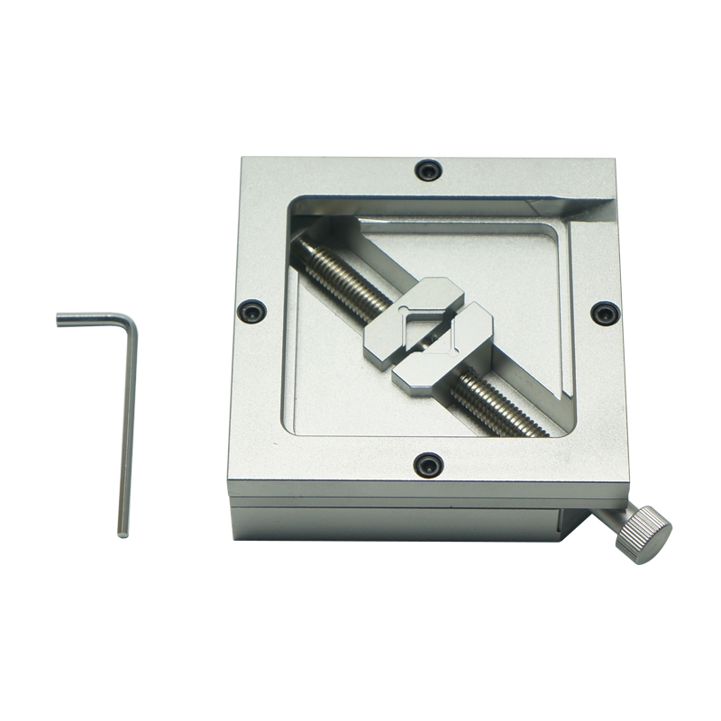 90X90mm HT-90 silver BGA reballing station jig stencil holder For PCB Chip Soldering цена