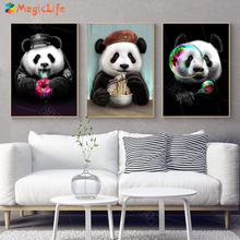 Cute Panda Art Prints Decor Wall Canvas Painting Animal Nordic Poster For Kid Room Pictures Unframed