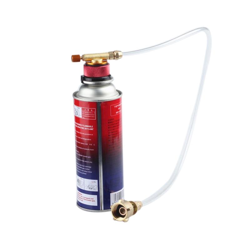 Serie al aire libre camping accessary estufa de gas propano refill adaptador GLP cilindro plano cilindro acoplador adaptador de botella