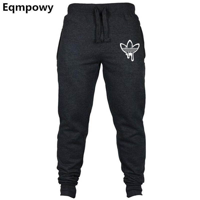 Fall Men's Black Doodle Print Trousers Jogger Men's Pants Casual Slim Fit Men's Fitness Sweatpants Big Size Wholesale