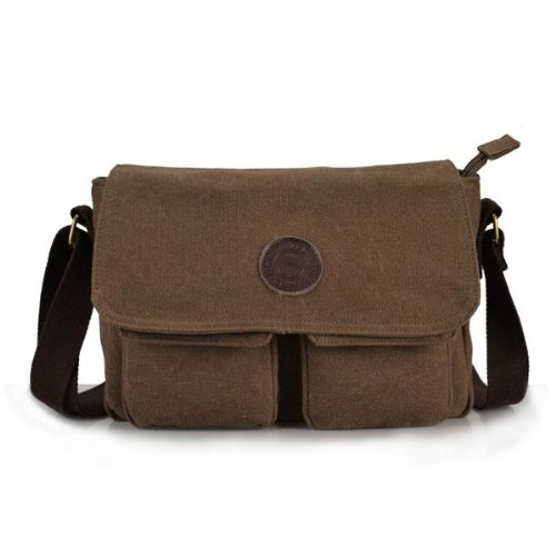 Men Handbag Bag Satchel Shoulder Cross Body Messenger Casual Coffee men canvas satchel casual cross body handbag messenger shoulder bag