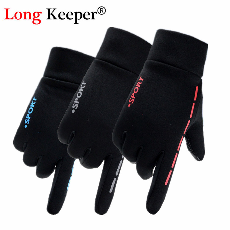 Women Sping Full finger Touch Screen Gloves Men Sport Riding Cycling Elastic Force Gloves Keep Warm Non-slip Gloves Guantes