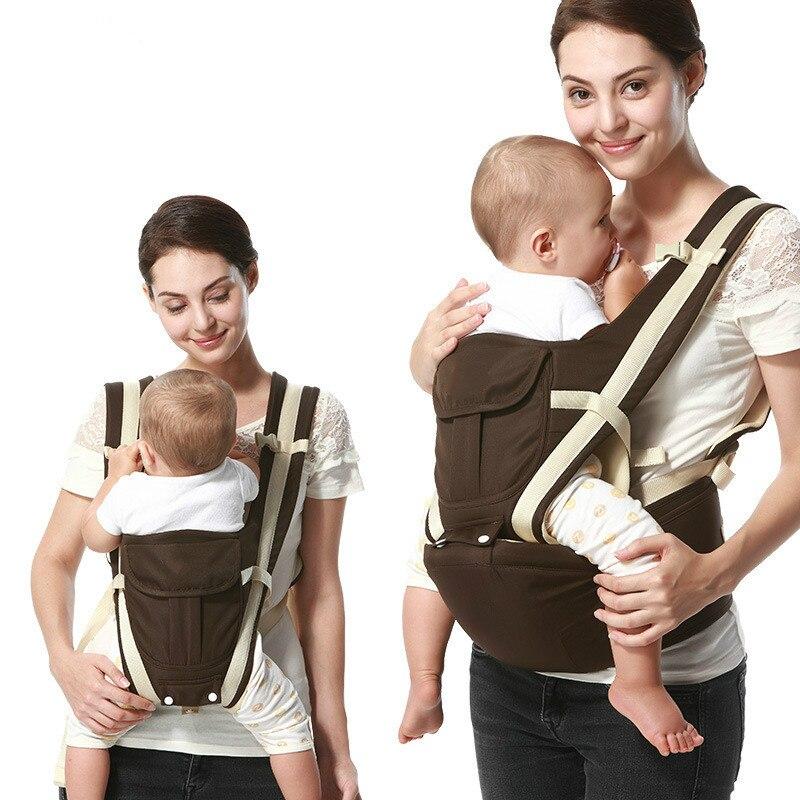Sac à dos ergonomique en coton respirant pour attache kangourou pour bébé