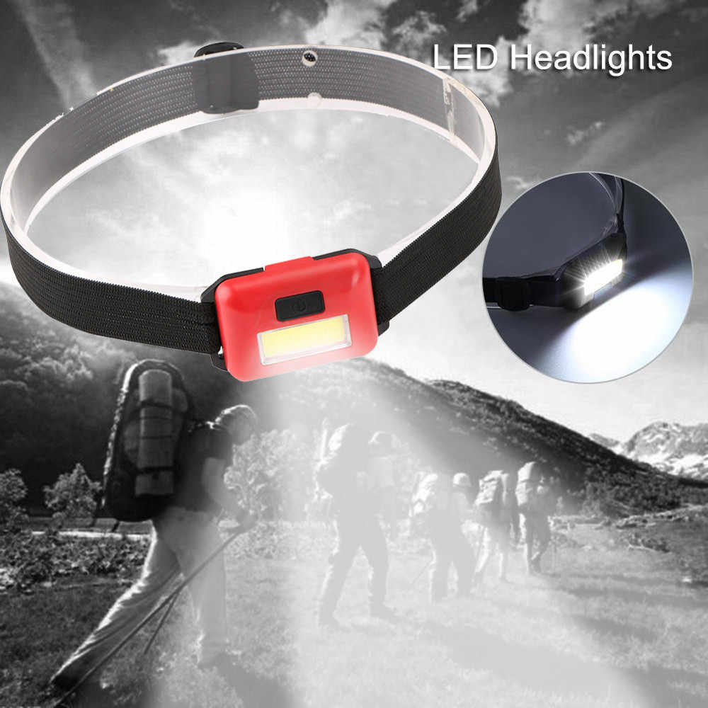 Headlamp LED 3 Mode Headlight Mini Plastic Lamp Flashlight 3AAA Torch For Camping Hiking NO Battery M28