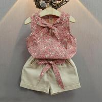 Baby Girl Clothes Fashion Cartoon Girls Summer Set Clothes Baby Suits Kids T Shirt Pants Children