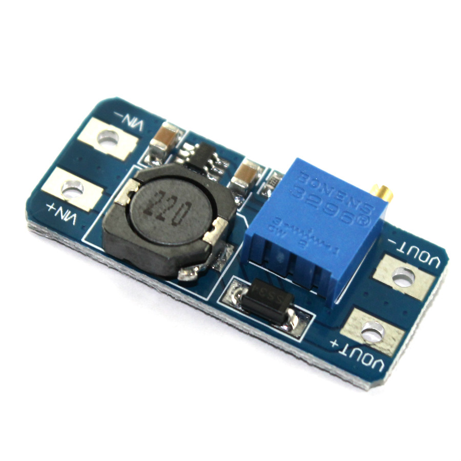 5PCS MT3608 DC-DC Step Up Converter Booster Power Supply Module Boost Step-up Board MAX output 28V 2A For Arduino