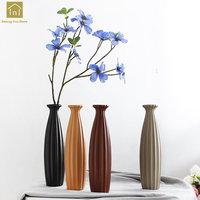 Europe Porcelain Ceramic Vase Modern Fashion Scrub Ceramic Flower Vase Room Hallway Floor Vase With Flowers Artificial QAB134