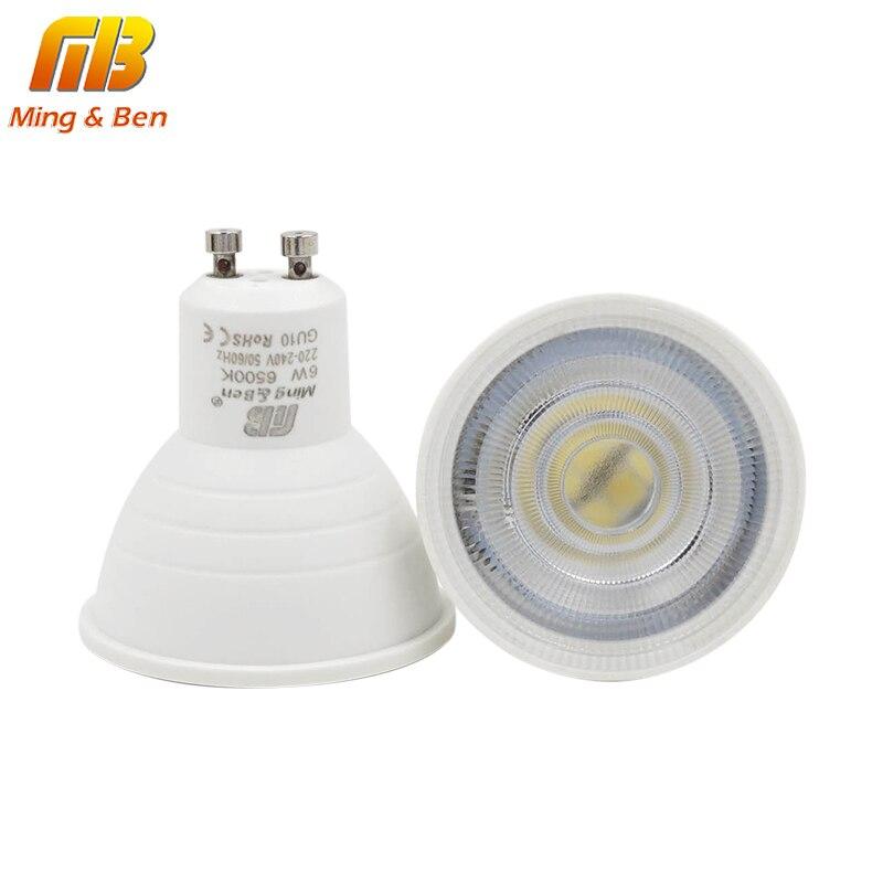 [Mingben] GU10 MR16 Светодиодный лампы 6 Вт 220 В светодиодный светильник ГУ лампада mr светодиодный конденсаторный лампа диффузии прожектор Энергосберегающие дома Освещение