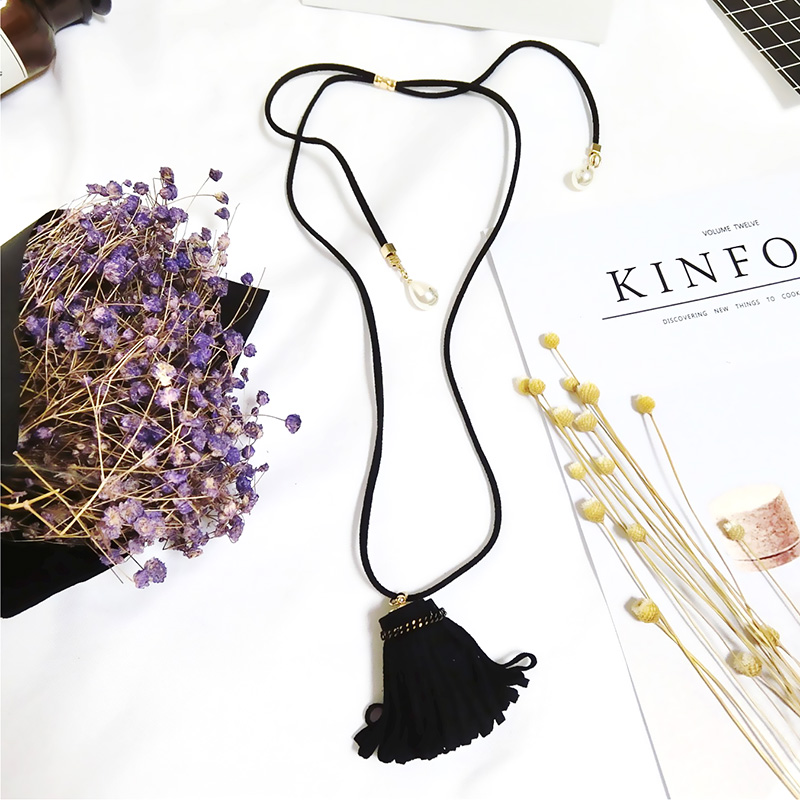 Summer New Fashion Simple Personality Flower Sweather Choker Cloth Pendant Long Adjustable Necklace Girl Charming collar women