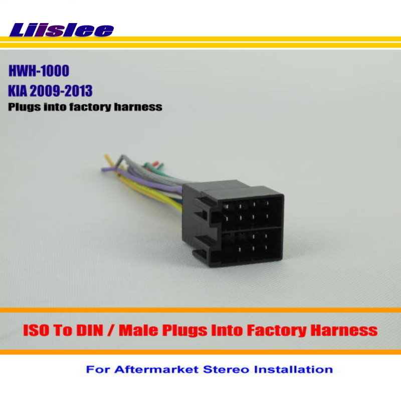 Liislee Car Radio Harness Cable Adapter For KIA Amanti Borrego Forte Optima Rio  Plugs into Factory Harness  Installation Kits