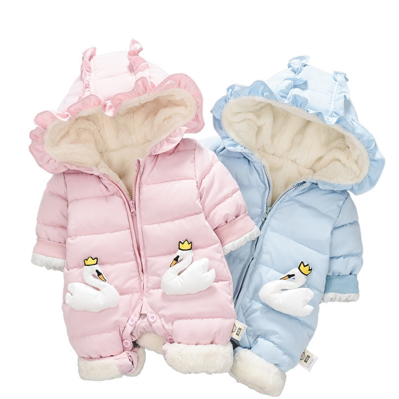 Winter baby girl boys clothes thick warm Windproof jumpsuit overalls for newborn baby girls clothing set outerwear rompersWinter baby girl boys clothes thick warm Windproof jumpsuit overalls for newborn baby girls clothing set outerwear rompers