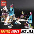 Lepin 01042 632Pcs Girls Series Compatible legoing 41324 Snow Resort Ski Lift Building Blocks Bricks Educational Toys Gifts