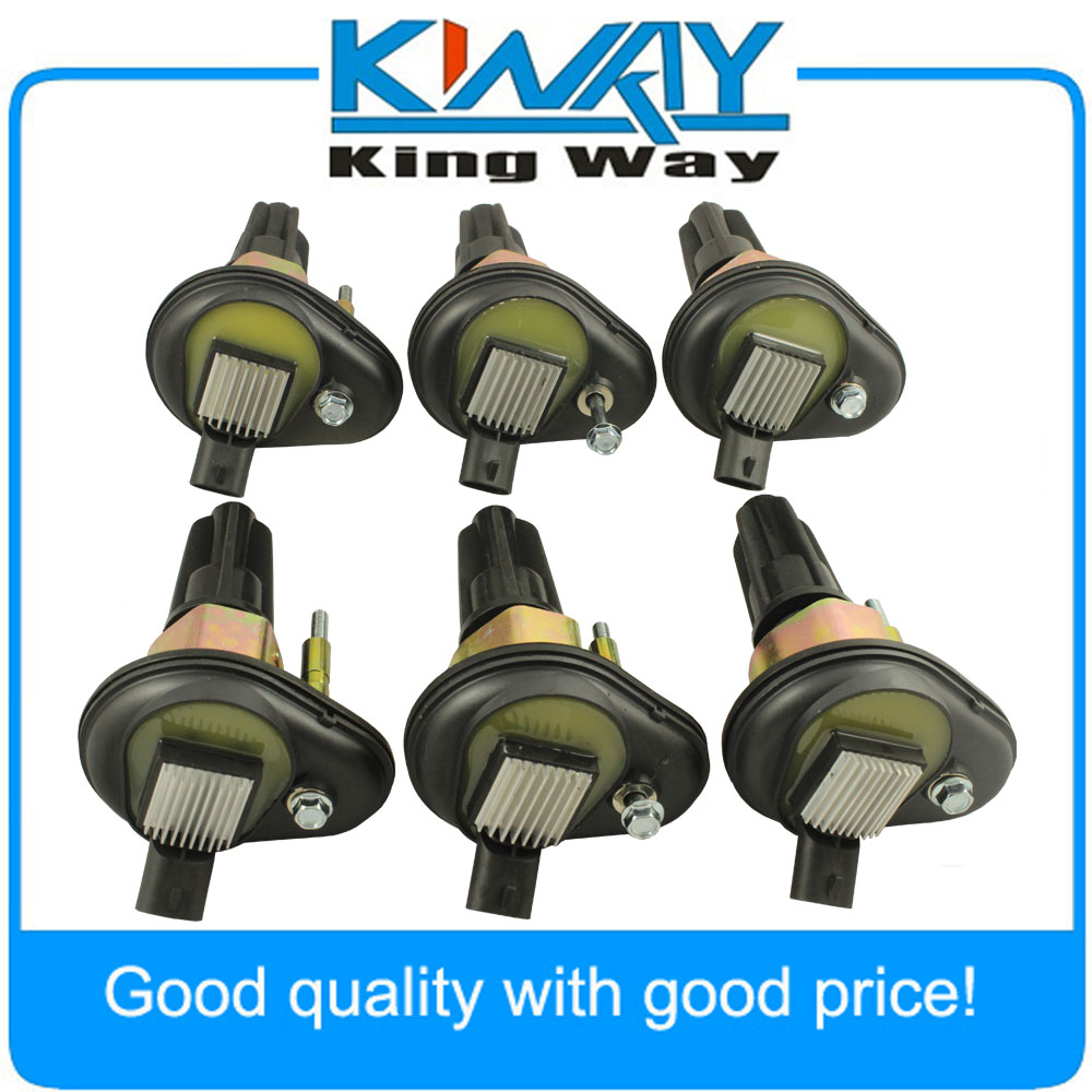 New Ignition Coil Set of 6 Fit For Chevy Trailblazer GMC Canyon Envoy H3 2002 2005