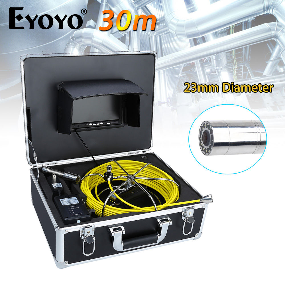 Eyoyo WP70A 7 LCD CMOS 30M 23mm CCTV Cam 1000TVL Wall Drain Sewer Pipe Line Inspection Camera System Snake Inspection Color шкатулка swiss kubik sk01 fa002 wp