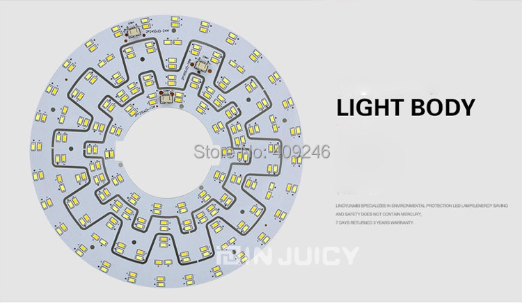 Double Color Warm/Cool white Mix 18W 5730 SMD Light Ceiling Lamp Plate AC85-265V Replace Board With Driver And Magnet