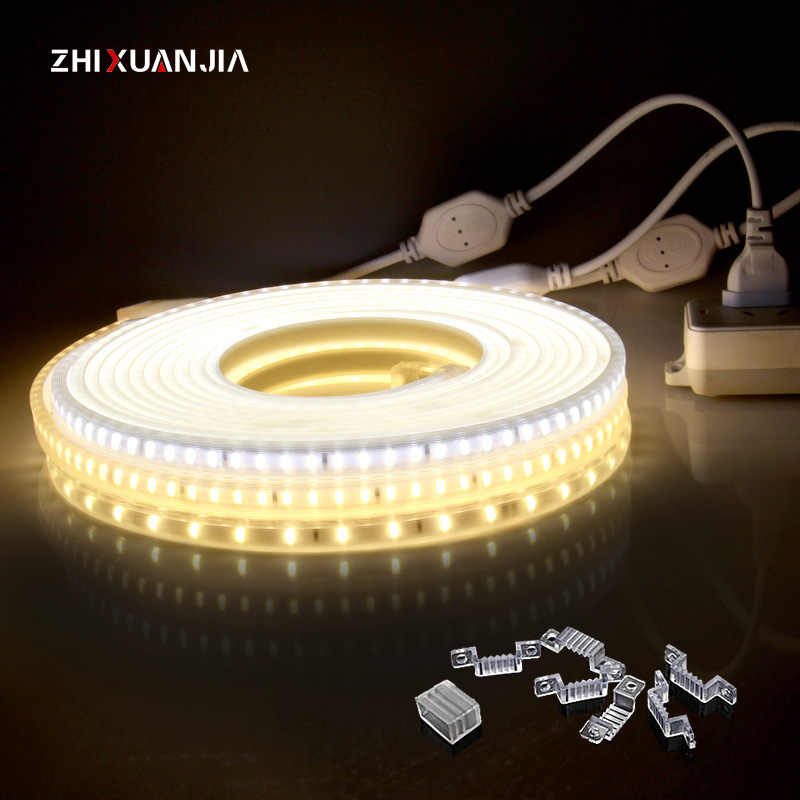 220V EU plug Waterproof led kitchen lamp wardrobe cabinet light closet cupboard lighting bedroom lamp 5M 10M 15M 20M