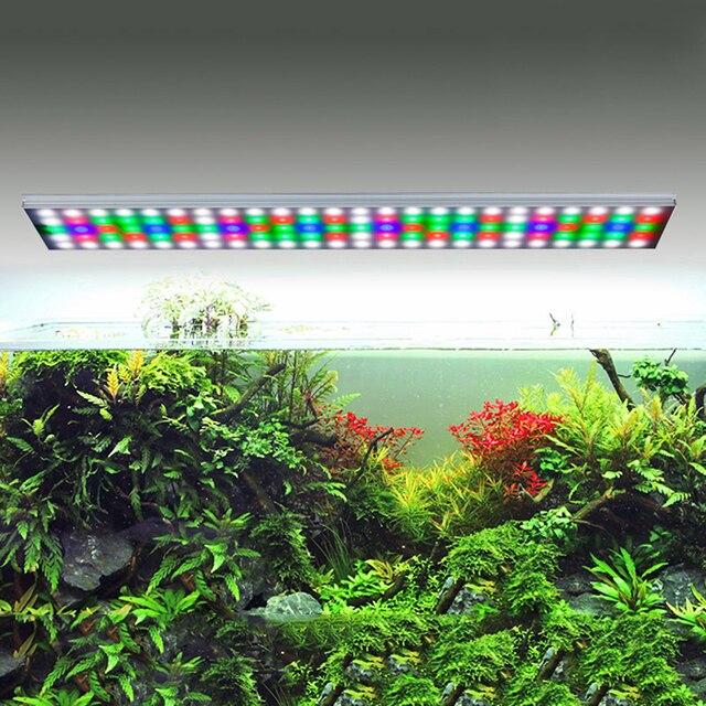 Супер тонкий Chihiros стиль ada RGB светодио дный светодиодный свет аквариума пресноводных растений воды растения растут светодио дный для 12