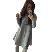 2016 fall new arrive women dress full sleeve pure color bar hair cloth sweater dress 6248