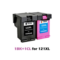 2pcs XiongCai Compatible ink cartridges For HP 121 Deskjet D2563 F4283 F2483 F4213 F4283 F4583 printer cartridge For HP121 121XL