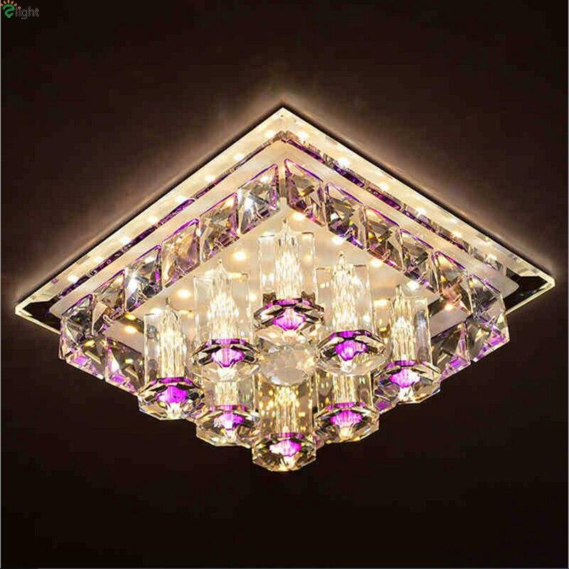 Lustre moderne en cristal Led lustres éclairage couloir Led plafond Lustre lampe porche Led lumières luminaire Downlights pour Hall