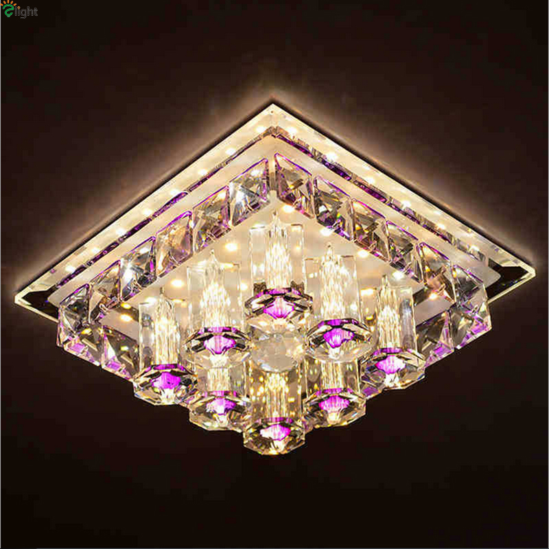 Modern Lustre Crystal Led Chandeliers Lighting Corridor Led Ceiling Chandelier Lamp Porch Led Lights Fixture Downlights For Hall aisle lights crystal chandeliers modern simple single ceiling lamp balcony lamp hall light led small porch light led fixture led