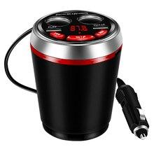 USB הכפול מטען לרכב לשקע מצית כוס תשלום רכזת 12 24V עם Bluetooth FM משדר תמיכה U דיסק קריאה