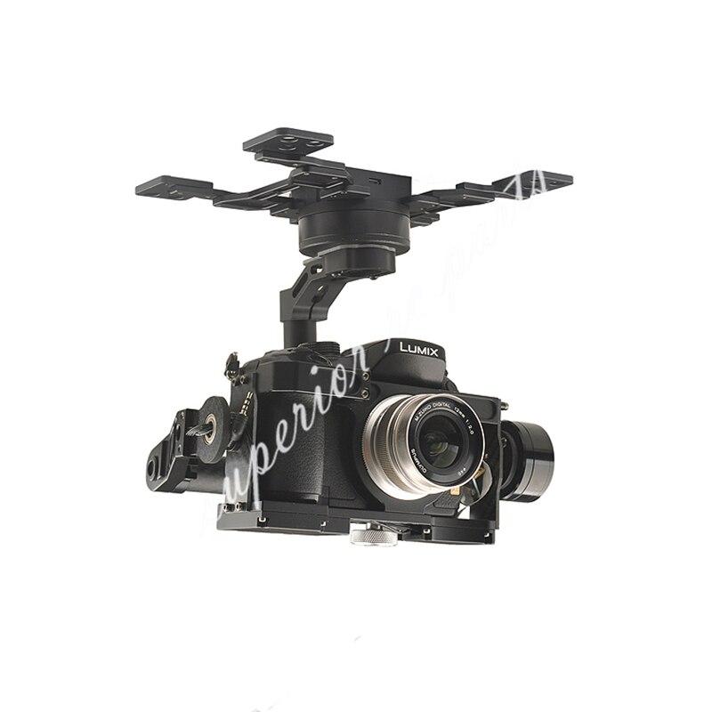 Cardan sans balais HG3D + trois axes avec GH3 GH4 GH5 édition intégrée HDMI à AV obturateur à distance pour la photographie RC FPV - 2