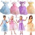 Moda vestido da menina de verão bebê menina Cinderela princesa Cosplay Traje, marca fantasia traje do bebê vestido de crianças vestido de festa