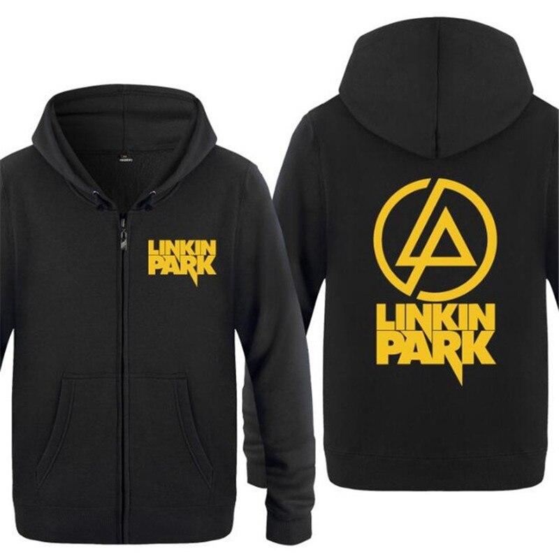 Mens Hoodie Rock Linkin Park Print Hoodies Men Fleece Long ... |Linkin Park Vest