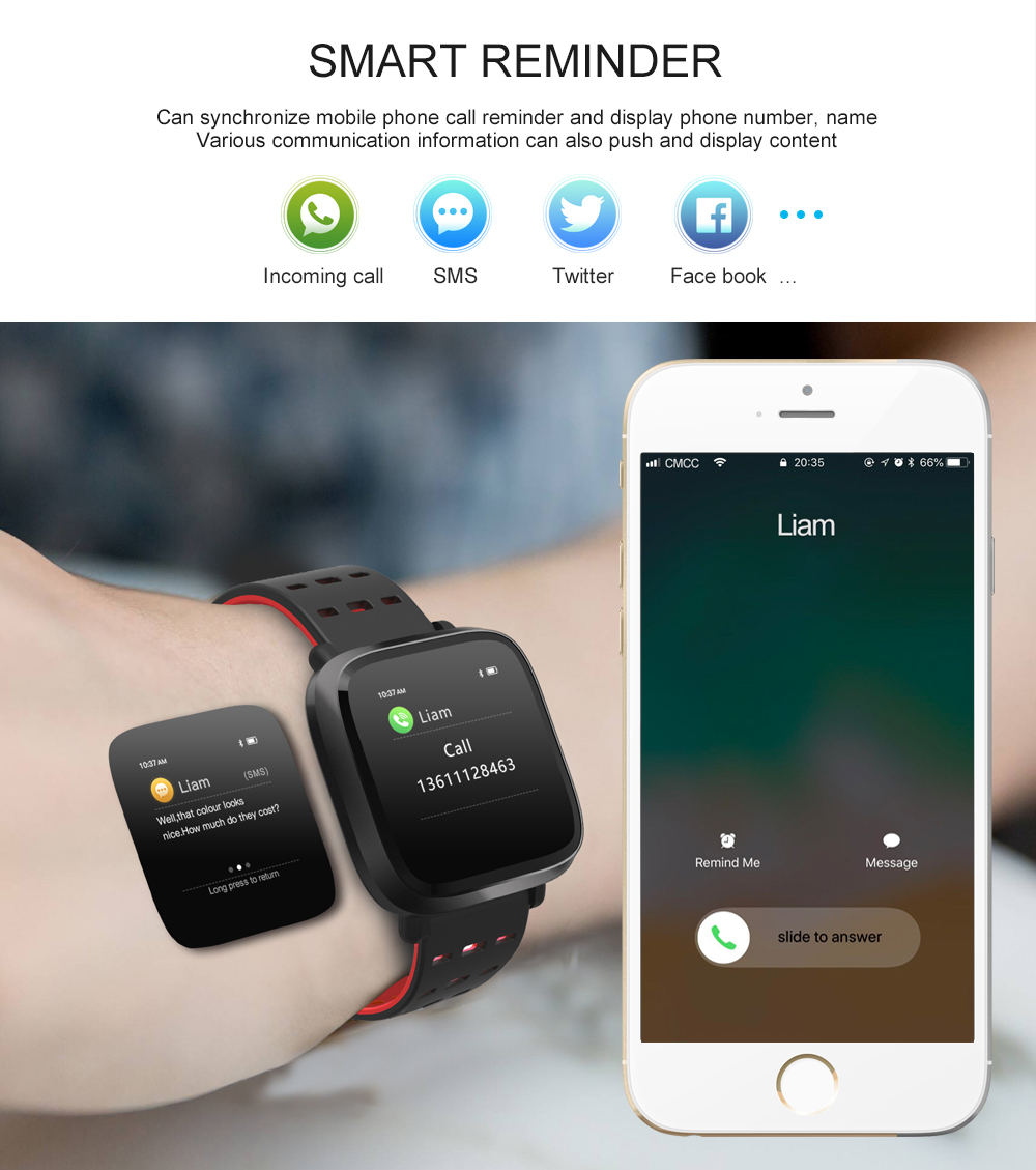Y8 Smartwatch Wearable Device Bluetooth IP67 Waterproof Pedometer Heart Rate Monitor Color Display Smart Watch For AndroidIOS (11)