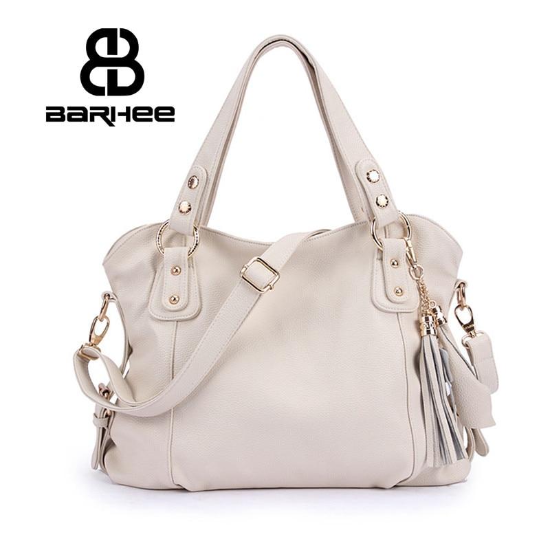 Real de cuero genuino de lujo bolso de las mujeres bolso de mano de las señoras de alta calidad diseño Messenger Bag White Hobo Retro Tote de cuero
