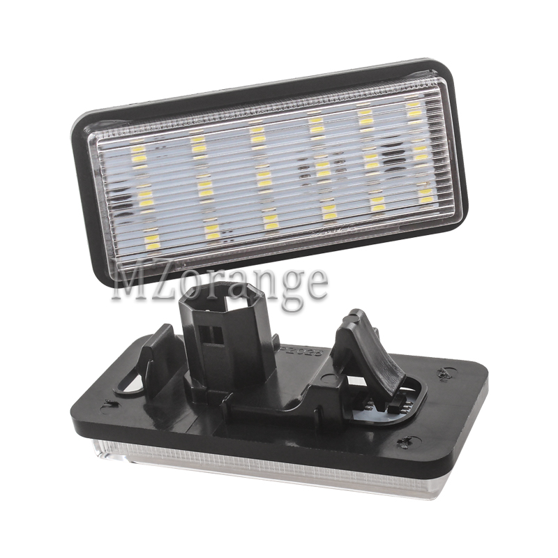 2Pcs 18-LED Car Number License Plate Light Lamp for Toyota Land Cruiser 120 Pardo Land Cruiser 200 <font><b>Lexus</b></font> <font><b>GX470</b></font> Car <font><b>Accessories</b></font> image