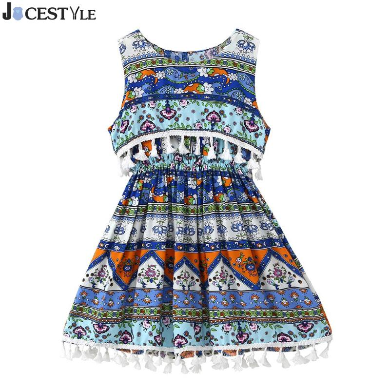 Ethnic Style Flower Printed Baby Girls Dress Kids Clothes Sleeveless Boho  Tassel tutu Vest Dresses Summer Girl Clothes 1-5T 8.64 € 99df4fbc8f8