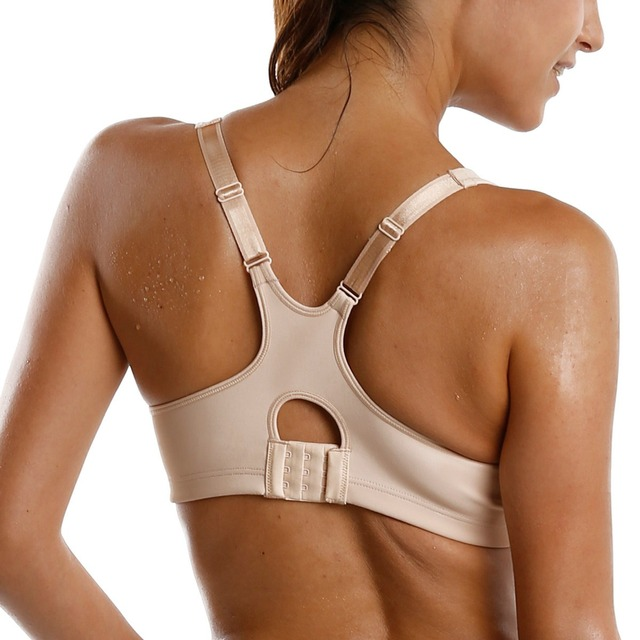 Women's High Impact Underwire Non Padded Powerback Support Sports Bra