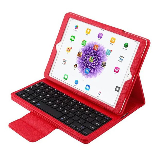For ipad pro 9.7 case Newest Bluetooth ABS Keyboard Stand Leather Case Cover For apple iPad Pro 9.7 free shipping
