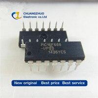 10 pçs/lote original Novo PIC16F688 I/P PIC16F688 16F688 I/P DIP 14 Melhor qualidade|Ferramentas p/cabo|   -