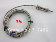 Free Shipping Bayonet Thermocouple K type 3m Spring Load Thermocouple Sensor Probe 0-400 Degree C